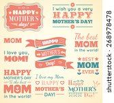happy mothers day. set of cute... | Shutterstock .eps vector #268978478