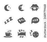 Vector Isolated Sleep Concept...