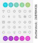 vector set of line emblems.... | Shutterstock .eps vector #268984436