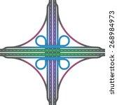 road junction   cloverleaf...   Shutterstock .eps vector #268984973