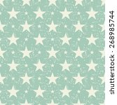 seamless pattern with stars on... | Shutterstock .eps vector #268985744
