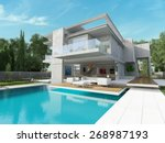 external view of a contemporary ... | Shutterstock . vector #268987193