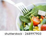 healthy eating  dieting ... | Shutterstock . vector #268997903