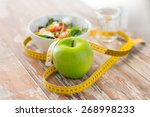 healthy eating  dieting ... | Shutterstock . vector #268998233