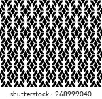 black and white color argyle... | Shutterstock .eps vector #268999040