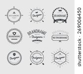 vintage logo set  retro design... | Shutterstock .eps vector #269006450