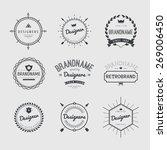 vintage logo set  retro design... | Shutterstock .eps vector #269006450