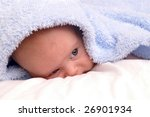 baby looking out from under...   Shutterstock . vector #26901934
