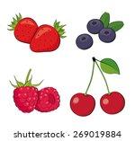 summer berries. strawberry ... | Shutterstock .eps vector #269019884