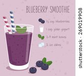 blueberry smoothie recipe | Shutterstock .eps vector #269019908
