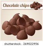 semisweet chocolate chips.... | Shutterstock .eps vector #269022956