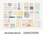 hand drawn textures made with ...   Shutterstock .eps vector #269025350
