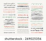 hand drawn vector line borders... | Shutterstock .eps vector #269025356