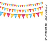multicolored bright buntings... | Shutterstock .eps vector #269028110
