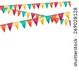 multicolored bright buntings... | Shutterstock .eps vector #269028128