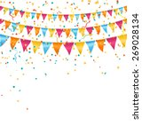multicolored bright buntings... | Shutterstock .eps vector #269028134