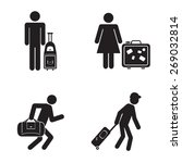 people traveling icons...