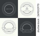 set of vintage hipster banners  ... | Shutterstock .eps vector #269032970