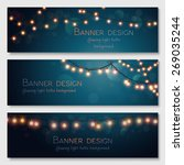 glowing light bulbs design.... | Shutterstock .eps vector #269035244