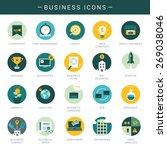 set of modern business icons  | Shutterstock .eps vector #269038046