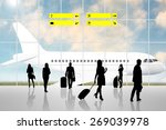 international airport terminal... | Shutterstock . vector #269039978