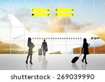 international airport terminal... | Shutterstock . vector #269039990