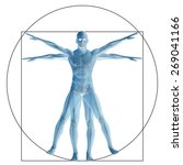 vitruvian human or man as a... | Shutterstock . vector #269041166