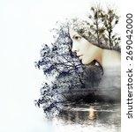 abstract double exposure of... | Shutterstock . vector #269042000