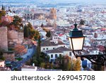 Top View Of  Granada In Evenin...