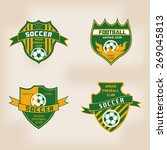 set of soccer football badge... | Shutterstock .eps vector #269045813