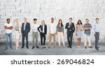 group of diverse community... | Shutterstock . vector #269046824