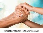 respect  human hand ... | Shutterstock . vector #269048360
