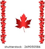 canada flag with leaves | Shutterstock .eps vector #269050586