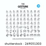 70 vector line icons set for... | Shutterstock .eps vector #269051303