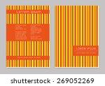 vector  business brochure or... | Shutterstock .eps vector #269052269