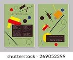 vector  business brochure or... | Shutterstock .eps vector #269052299
