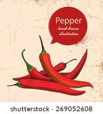 pepper  vector illustration on... | Shutterstock .eps vector #269052608