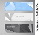 vector banners and triangles.... | Shutterstock .eps vector #269054504