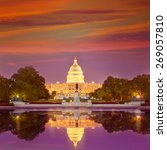 Stock photo capitol building sunset congress of usa washington dc us 269057810