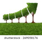 economic graph chart and eco or ... | Shutterstock . vector #269058176