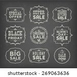 collection of calligraphic and... | Shutterstock .eps vector #269063636