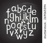 chalk hand drawing alphabet ...   Shutterstock .eps vector #269065394