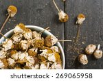 dried chamomile flowers  herbal ... | Shutterstock . vector #269065958