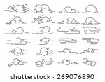 vector linear clouds. | Shutterstock .eps vector #269076890