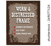 vector distressed frame | Shutterstock .eps vector #269077124