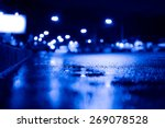 Night City After Rain  View Of...