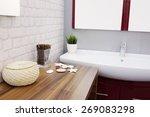 interior design of a luxury... | Shutterstock . vector #269083298