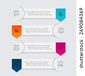vector colorful info graphics...   Shutterstock .eps vector #269084369