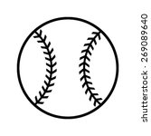 simple black baseball with... | Shutterstock .eps vector #269089640