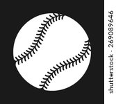 simple baseball with stitches... | Shutterstock .eps vector #269089646